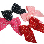 Spotty Grosgrain Ribbon Bows
