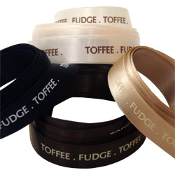 Toffee Fudge Printed Ribbon