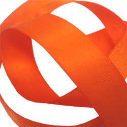 15mm Torrid Orange Satin Ribbon