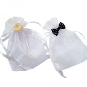 His Hers Wedding Organza Bags