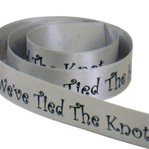 Tied The Knot Printed Ribbon