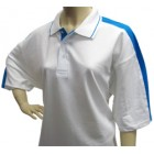White Blue Sporting Polo Shirts