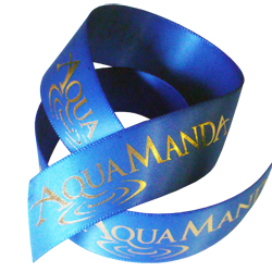 Aqua Printed Ribbon