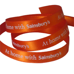 Sainsburys Printed Ribbon