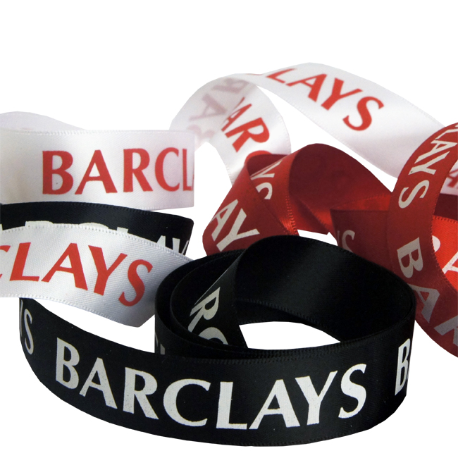 Barclays Printed Satin Ribbon