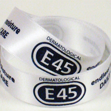 White Satin E45 Printed Ribbon