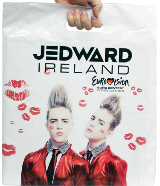 Jedward Eurovision Printed Carrier Bags