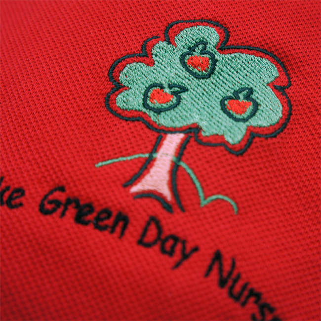 Embroidered or printed school nursery polo shirts