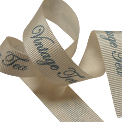 vintage printed grosgrain ribbon