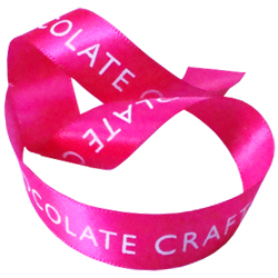 printed double faced satin ribbon for chocolate craft