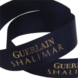 Printed ribbon for guerlain shalimar
