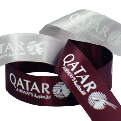 qatar airways printed ribbon
