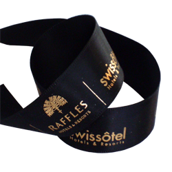 Raffles Hotel Printed Double Faced Satin Ribbon