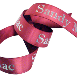 sandy mac double faced satin printed ribbon
