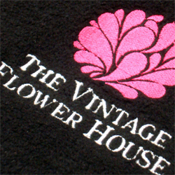 vintage flower house embroidered fleeces